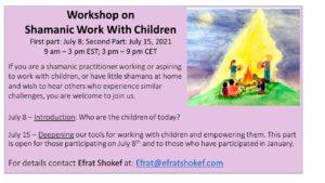 working with children workshop July 2021